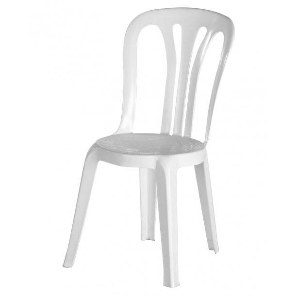 PLAST HVID stol - STOLE - Holstebro Udlejning - Fest udlejning